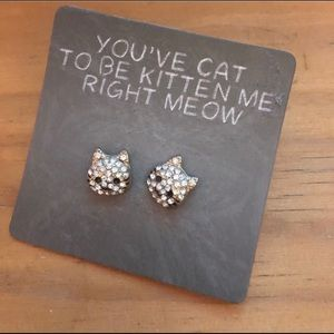 You've cat to be kitten me right meow earrings